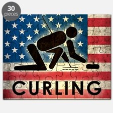 Grunge Curling Puzzle