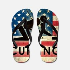 Grunge Curling Flip Flops