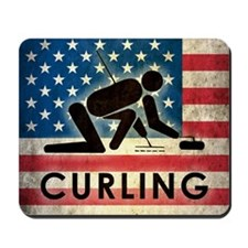 Grunge Curling Mousepad