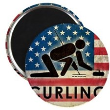 Grunge Curling Magnet