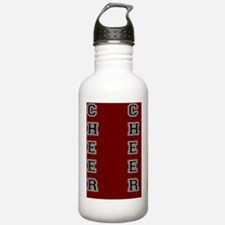 Cheer Red and black Water Bottle