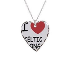 I heart celtic song Necklace