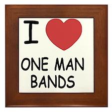 I heart one man bands Framed Tile