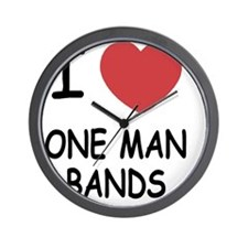 I heart one man bands Wall Clock