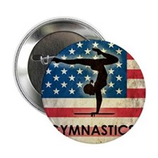"""Grunge Gymanstics 2.25"""" Button"""