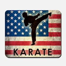 Grunge Karate Mousepad