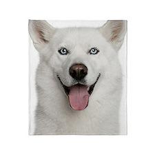 siberian husky (3 years old) Throw Blanket