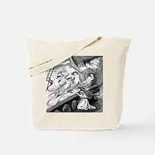 Vintage Mermaids Print Tote Bag