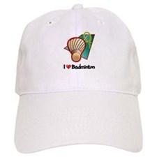 I Love Badminton Baseball Cap