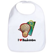 I Love Badminton Bib