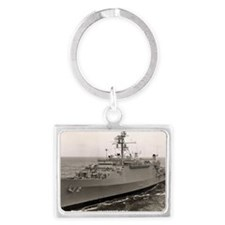 uss vancouver rectangle magnet Landscape Keychain