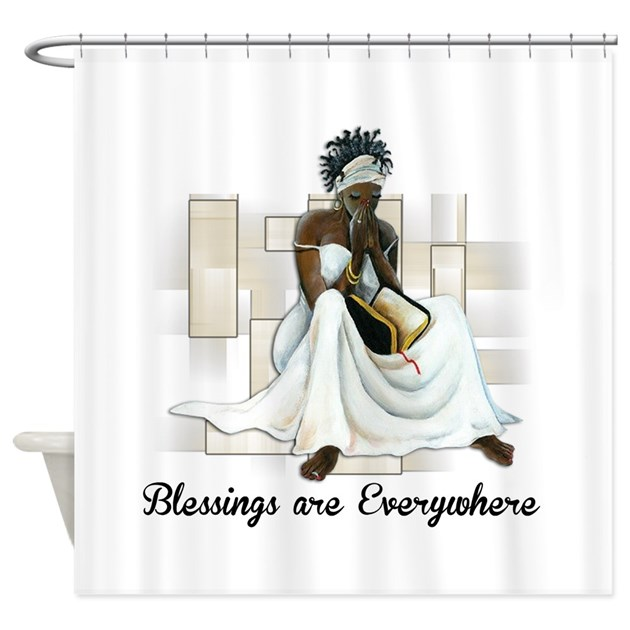 Believe shower curtain by exclusiveexpressions Bathroom decor ideas with shower curtain
