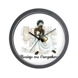 Black art Wall Clocks