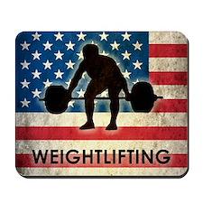Grunge Weightlifting Mousepad