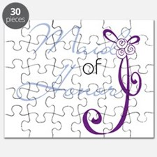 Purple Wedding Ribbon Maid of Honor Puzzle