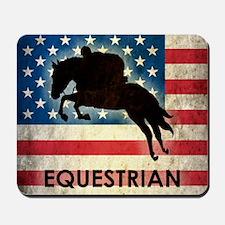Grunge USA Equestrian Mousepad