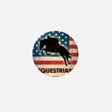 Grunge USA Equestrian Mini Button