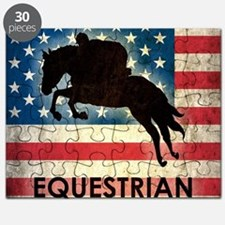 Grunge USA Equestrian Puzzle