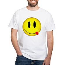 Yellow Smiley Face Tongue Shirt