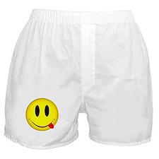 Yellow Smiley Face Tongue Boxer Shorts