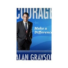 Courage: Make a Difference. Rectangle Magnet