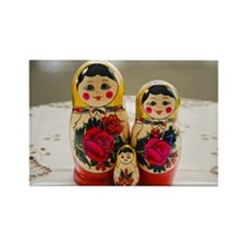 Russian Doll (Baboushka) family Rectangle Magnet