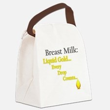 Liquid Gold Canvas Lunch Bag