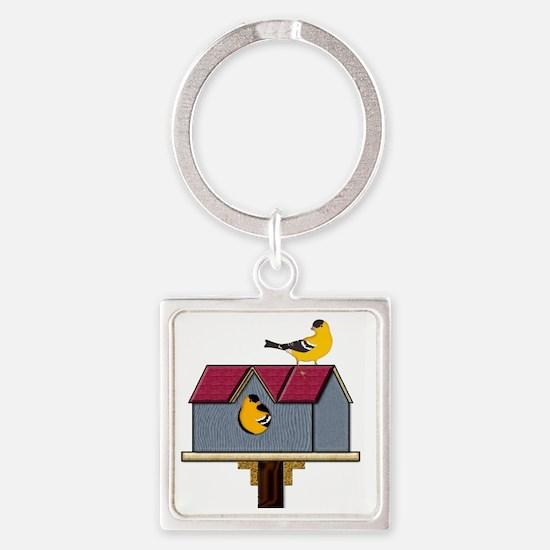 Home Tweet Home Square Keychain