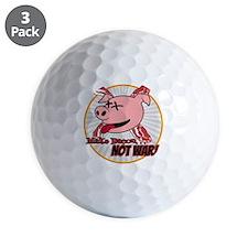Make Bacon not War! Golf Ball