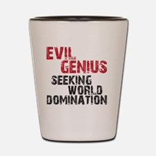evil genius Shot Glass