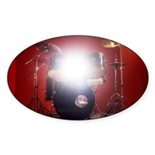 Drum kit in music studio with light Decal