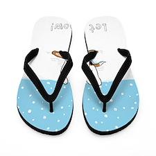 snowbeagle16x20 Flip Flops