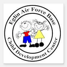 "Eglin AFB CDC Logo Square Car Magnet 3"" x 3"""
