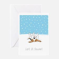 snowbeagle9x12 Greeting Card