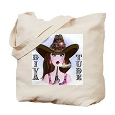 Cowgirl Design for cafe Tote Bag