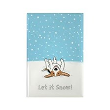 snowbeagle11x17 Rectangle Magnet