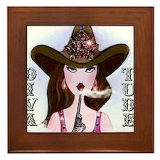 Diva of a Cowgirl Framed Tile