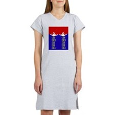 Cheer Blue and Red Women's Nightshirt