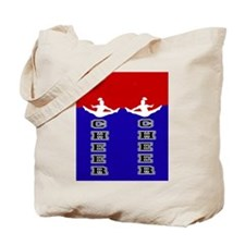 Cheer Blue and Red Tote Bag