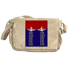 Cheer Blue and Red Messenger Bag