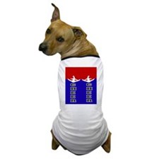 Cheer Blue and Red Dog T-Shirt