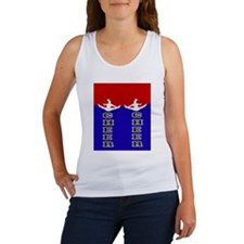 Cheer Blue and Red Women's Tank Top