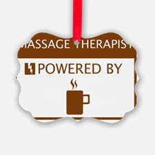 Massage Therapist Powered by Coff Ornament
