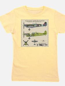 Spitfire MH434 Cutatway Blueprint Girl's Tee
