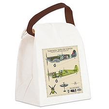 Spitfire MH434 Cutatway Blueprint Canvas Lunch Bag