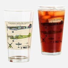 Spitfire MH434 Cutatway Blueprint Drinking Glass