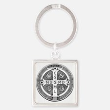 Medal of Saint Benedict Square Keychain