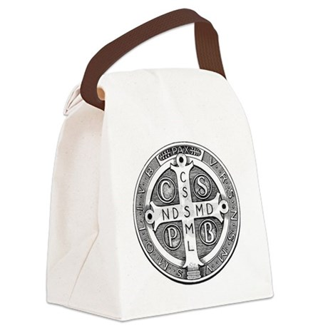 Medal of Saint Benedict Canvas Lunch Bag