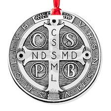 Medal of Saint Benedict Ornament