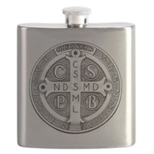 Medal of Saint Benedict Flask